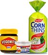 Corn thins cream cheese & vegemite